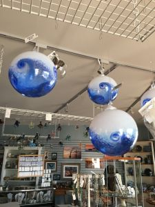 Wave glass ornaments